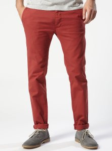LIMITED EDITION Red Cotton Skinny Chinos