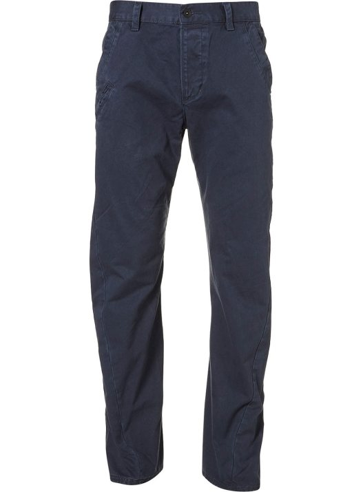 Navy Twisted Seam Chinos