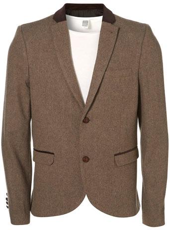 Camel Tweed Skinny Blazer - £80