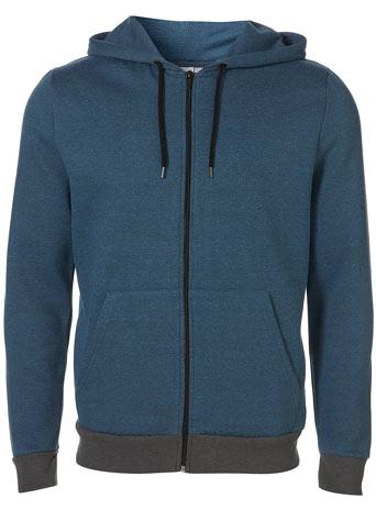 Blue/Black Marl Kangaroo Hoody - £30