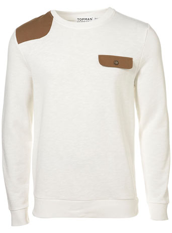 White Patched Sweatshirt - £28