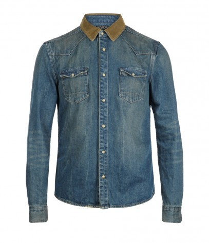 Bedford Shirt Mid Indigo -£85
