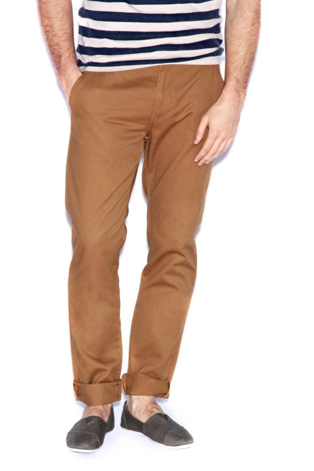 Tobacco Cotton Slim Chinos