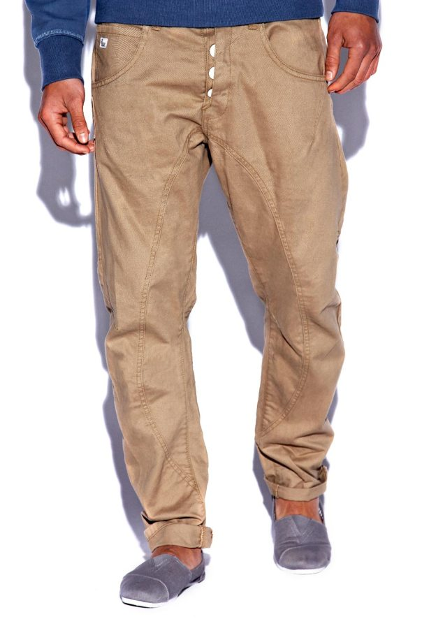 Twill Button 5 Pocket Chinos