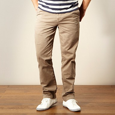 Light brown straight leg chinos