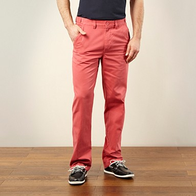 Pink straight leg chinos @ £20