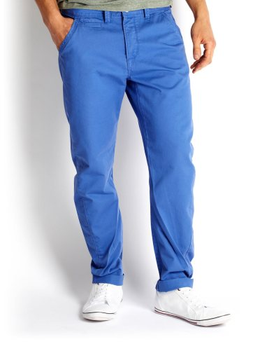 Tapered Twist Blue Chino