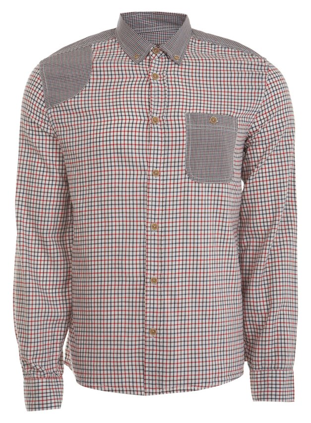 Red Gingham Check Patch Shirt  -  £28