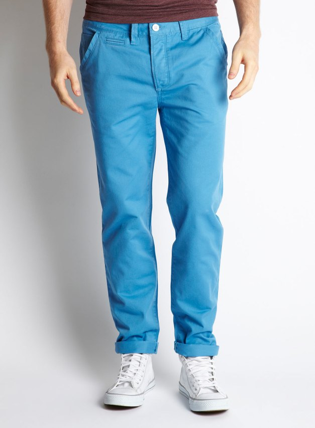 Skinny Fit Light Blue Chinos