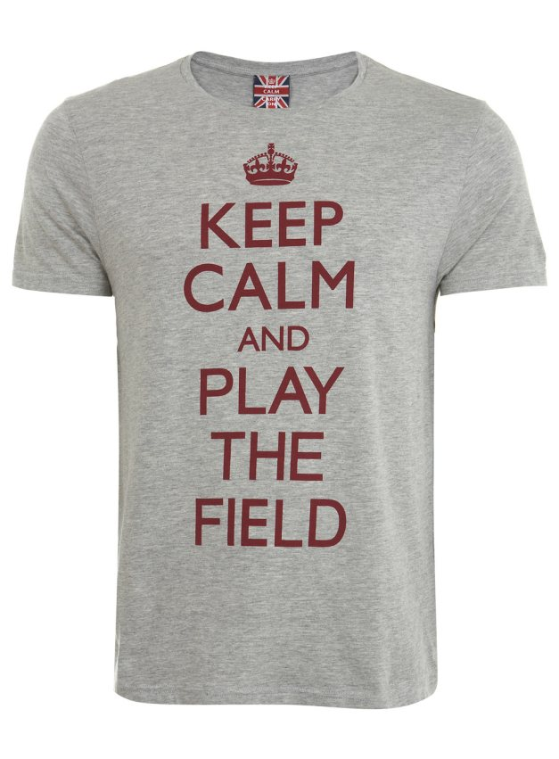 Keep Calm Play The Field T-Shirt  -  £6