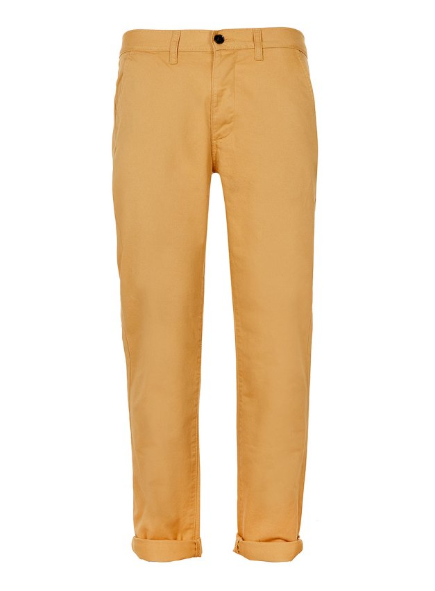 LIGHT MUSTARD SKINNY CHINOS