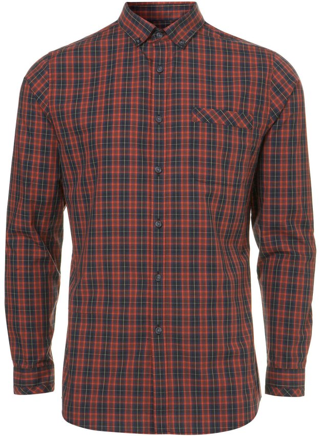 RED/BLACK TARTAN SMART SHIRT